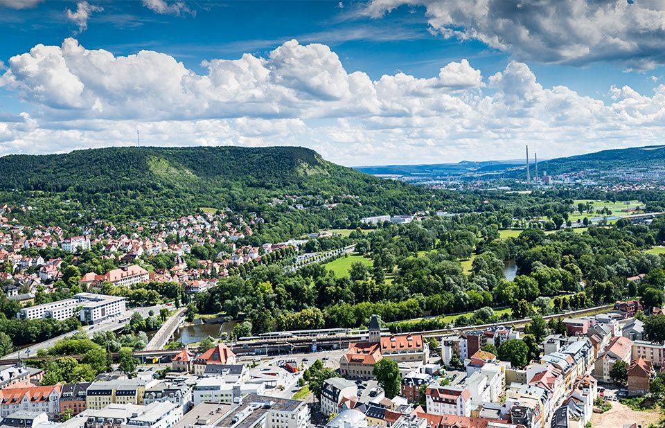 Panorama Jena Intershop Tower Turm Cityscape