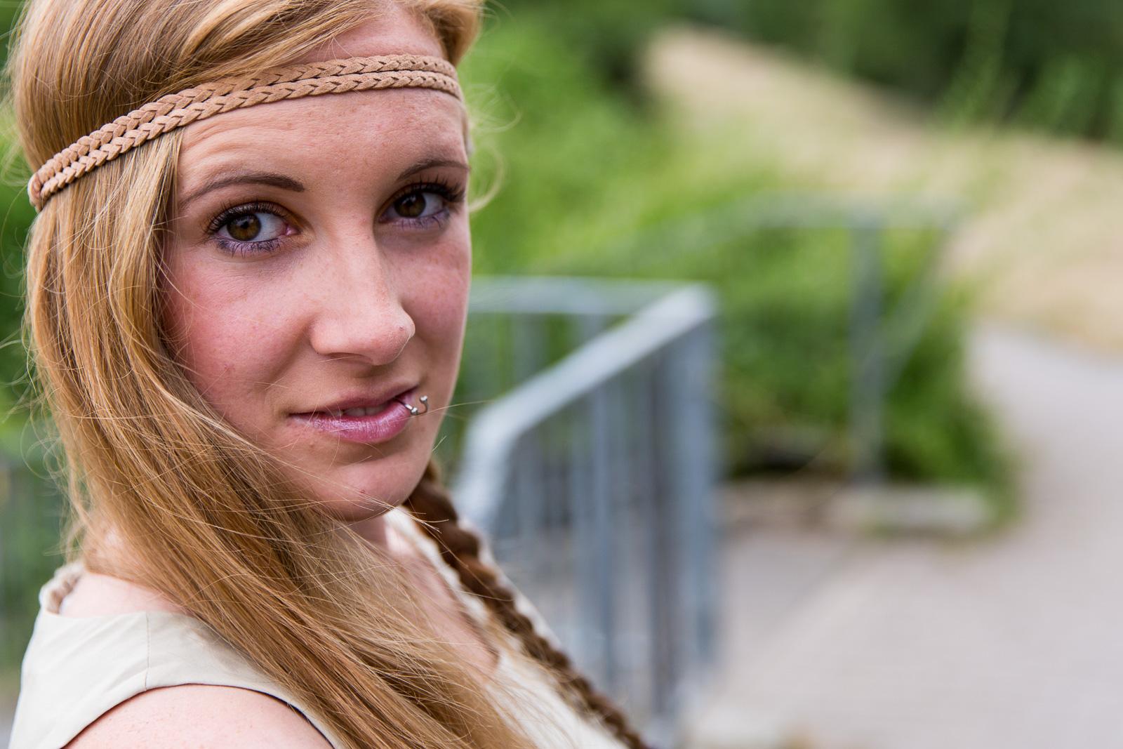 People-, Lifestyle- und Fashion-Fotografie mit Model Franzi in Soemmerda
