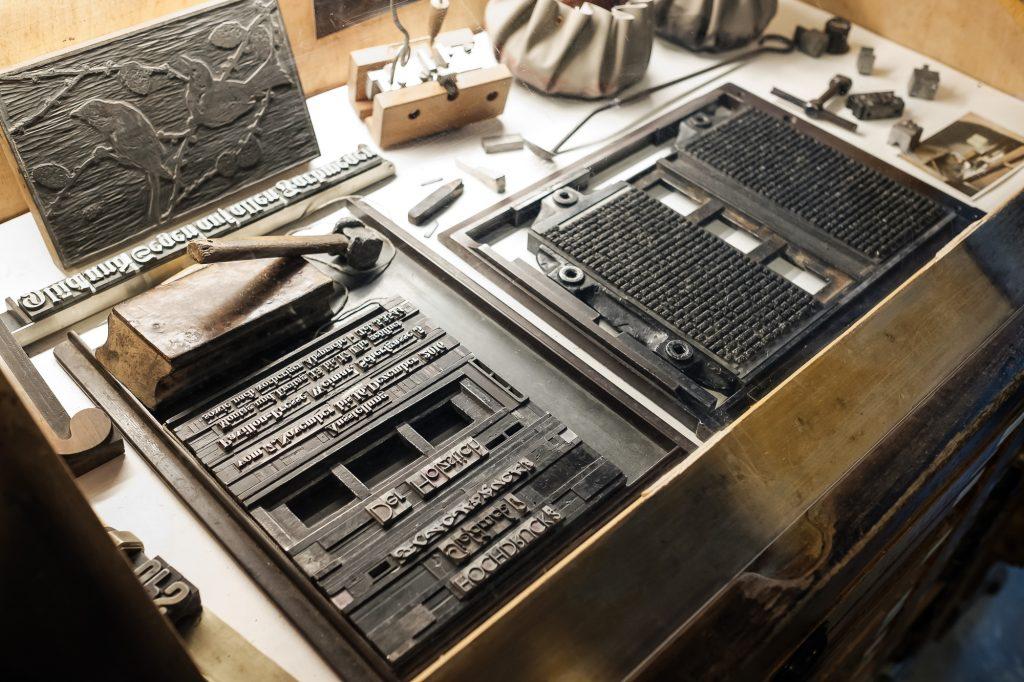 Drucklettern bearbeitet in Lightroom